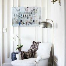 Фотография: Мебель и свет в стиле Кантри, Скандинавский, Декор интерьера, Советы, Белый, как оформить пустой угол, пустой угол в квартире – фото на InMyRoom.ru