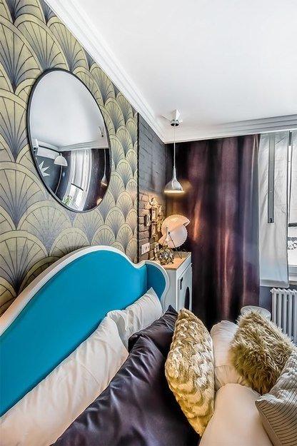 Фотография: Спальня в стиле Эклектика, Декор интерьера, Интерьер комнат, Ар-деко – фото на InMyRoom.ru