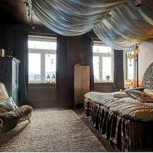 Фотография: Спальня в стиле Кантри, Восточный, Декор интерьера, Квартира, Дизайн интерьера, Мебель и свет, Цвет в интерьере, Стокгольм, Коричневый – фото на InMyRoom.ru