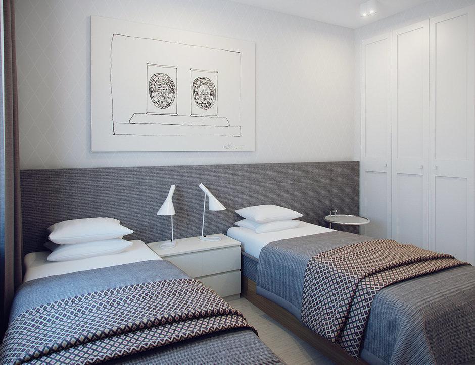 Фотография: Спальня в стиле Скандинавский, Современный, Малогабаритная квартира, Квартира, Дома и квартиры, Проект недели – фото на InMyRoom.ru