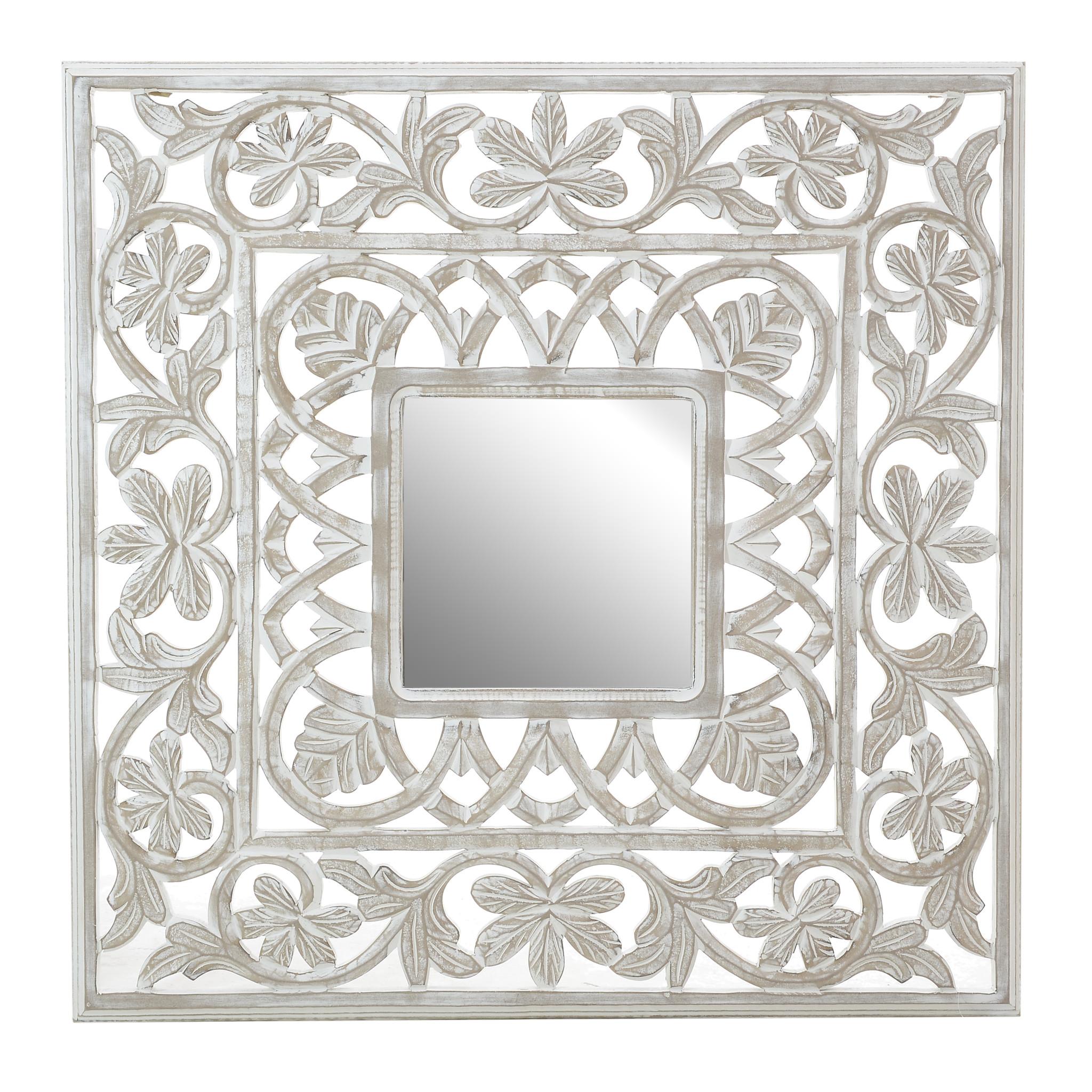 Купить Настенное зеркало в раме с цветочными элементами, inmyroom, Греция