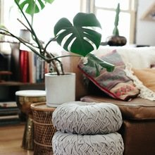 Фото из портфолио Интерьер, богатый текстилем и растениями  – фотографии дизайна интерьеров на InMyRoom.ru