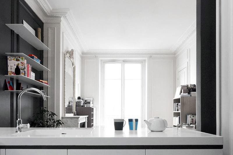 Фотография: Кухня и столовая в стиле Эклектика, Квартира, Франция, Дома и квартиры – фото на InMyRoom.ru