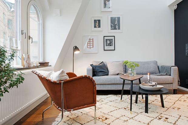 Фотография: Гостиная в стиле Скандинавский, Квартира, Дома и квартиры, Стокгольм – фото на InMyRoom.ru