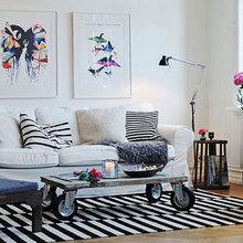 Фотография: Гостиная в стиле Лофт, Скандинавский, Декор интерьера, Декор, Советы – фото на InMyRoom.ru