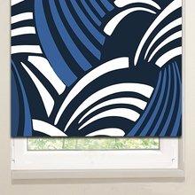 Рулонные шторы: Бело-синие волны