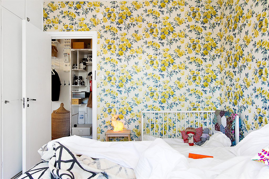 Фотография: Спальня в стиле Прованс и Кантри, Скандинавский, Малогабаритная квартира, Квартира, Франция, Дома и квартиры – фото на InMyRoom.ru