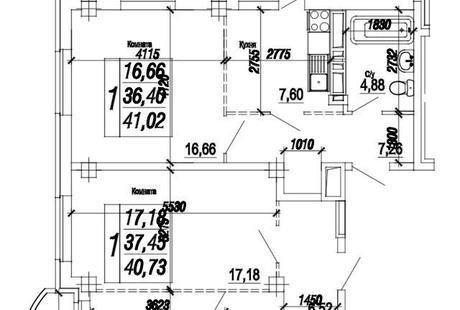 Планировка 2х-комнатной квартиры