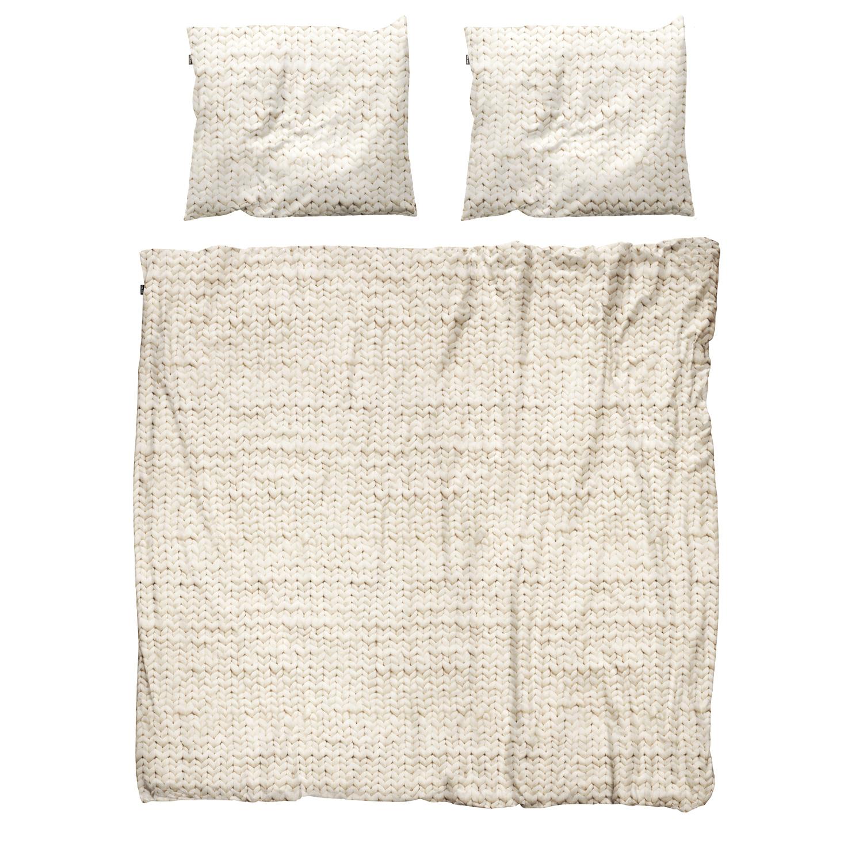Купить Комплект постельного белья Косичка 200х220 бежевый, inmyroom, Нидерланды