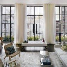 Фотография: Гостиная в стиле Минимализм, Дизайн интерьера, Большие окна – фото на InMyRoom.ru
