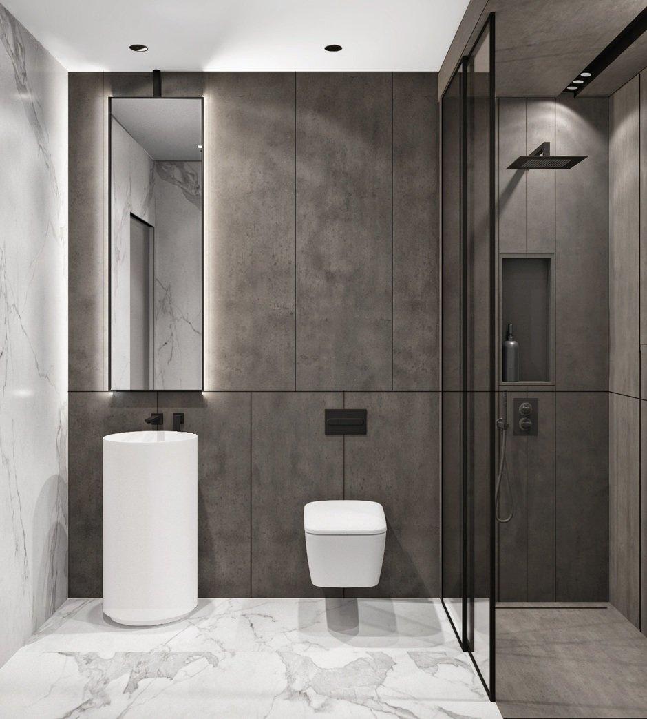 Фотография: Ванная в стиле Современный, Квартира, Miele, Проект недели, Москва, Quadro room, 4 и больше, Более 90 метров – фото на InMyRoom.ru