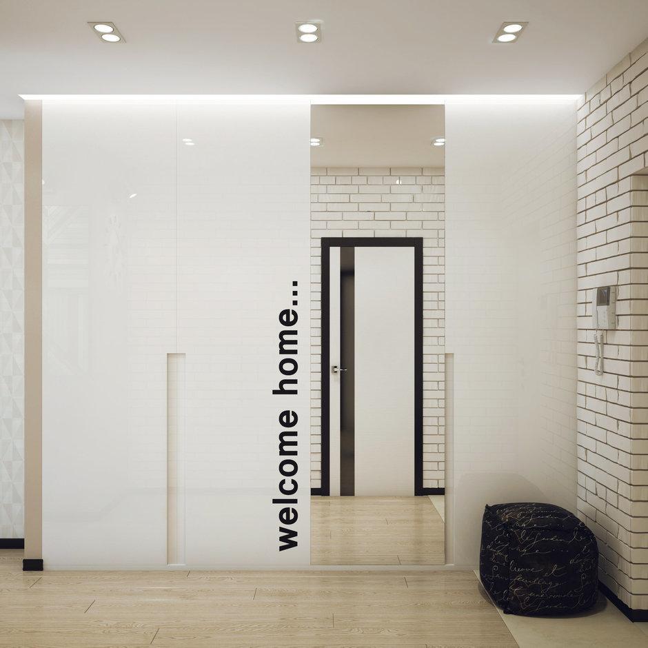 Фотография: Прихожая в стиле Лофт, Современный, Малогабаритная квартира, Квартира, Дома и квартиры, Проект недели – фото на InMyRoom.ru