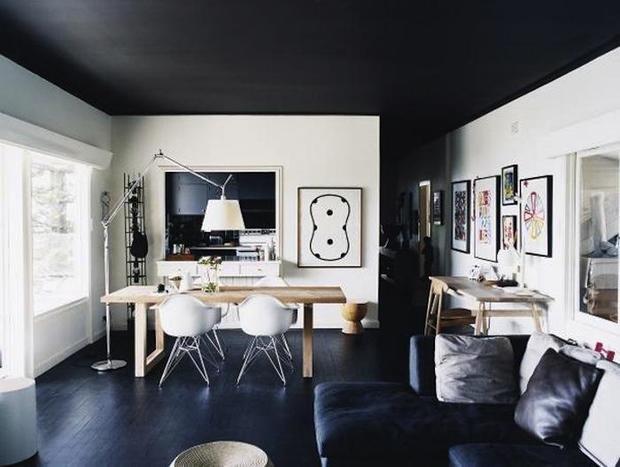 Фотография: Гостиная в стиле Лофт, Современный, Декор интерьера, Дизайн интерьера, Цвет в интерьере – фото на InMyRoom.ru