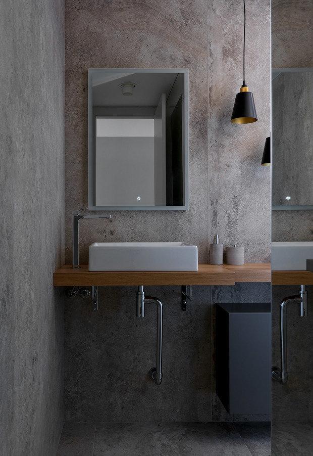 Фотография: Ванная в стиле Лофт, Современный, Квартира, Проект недели, Бежевый, Серый, 60-90 метров, TaupeHome, ПРЕМИЯ INMYROOM – фото на INMYROOM