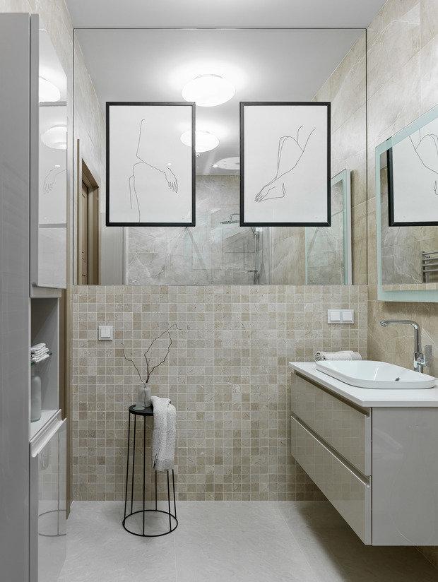 Фотография: Ванная в стиле Современный, Квартира, Проект недели, Москва, 3 комнаты, 60-90 метров, Makava Interiors – фото на INMYROOM