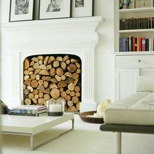 Фотография: Гостиная в стиле Скандинавский, Декор интерьера, Декор дома, Камин – фото на InMyRoom.ru