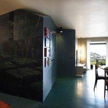 Фотография: Гостиная в стиле Лофт, Малогабаритная квартира, Квартира, Франция, Терраса, Дома и квартиры, Сад, Пол – фото на InMyRoom.ru