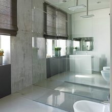 Фотография: Ванная в стиле Лофт, Малогабаритная квартира, Интерьер комнат – фото на InMyRoom.ru