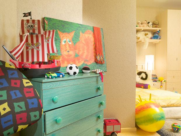 Фотография: Детская в стиле Современный, Декор интерьера, МЭД, Мебель и свет, Краска – фото на InMyRoom.ru