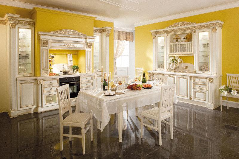Лимонный или соломенный цвет на кухне