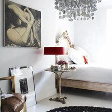 Фотография: Спальня в стиле Скандинавский, Эклектика, Декор интерьера, Дизайн интерьера, Цвет в интерьере, Серый – фото на InMyRoom.ru
