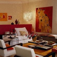 Фотография: Гостиная в стиле Современный, Восточный, Квартира, Дома и квартиры, Переделка – фото на InMyRoom.ru