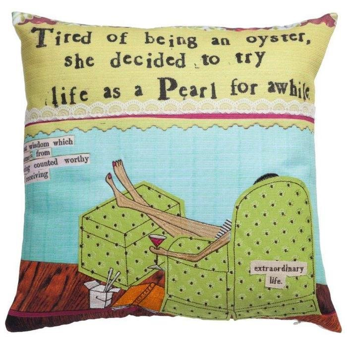 Подушка с принтом Riposo