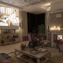 Фотография: Гостиная в стиле Кантри, Классический, Дом, Дома и квартиры, Прованс, Проект недели – фото на InMyRoom.ru