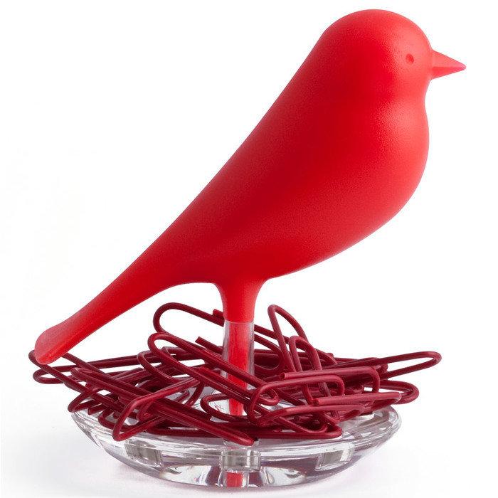 Держатель для скрепок sparrow красный