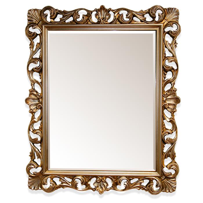 Купить со скидкой Настенное зеркало в раме бронзового цвета