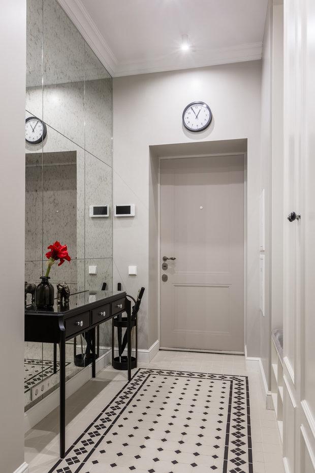 Фотография: Прихожая в стиле Классический, Квартира, Проект недели, Москва, 2 комнаты, 60-90 метров, Muzahouse – фото на INMYROOM