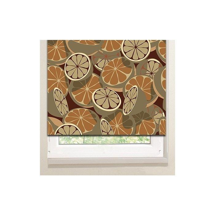 Рулонные шторы: Коричневые цитрусы