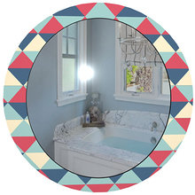 """Зеркало с цветным принтом """"Мозаика"""""""