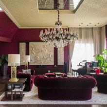 Фотография: Гостиная в стиле Классический, Современный, Декор интерьера, Дизайн интерьера, Марат Ка, Декоративная штукатурка, Альтокка – фото на InMyRoom.ru