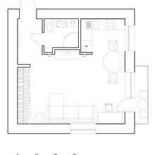 Фотография: Планировки в стиле , Малогабаритная квартира, Квартира, Дома и квартиры, IKEA, Проект недели – фото на InMyRoom.ru