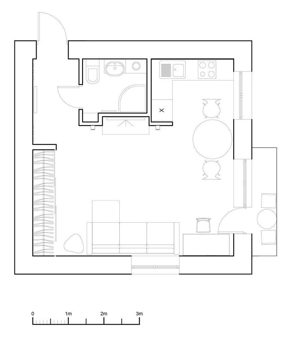 Фотография: Планировки в стиле , Малогабаритная квартира, Квартира, Дома и квартиры, IKEA, Проект недели, Хрущевка – фото на InMyRoom.ru