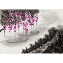 """Декоративная картина на холсте """"Длинный путь"""""""