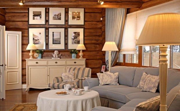 Фотография: Гостиная в стиле Прованс и Кантри, Классический, Современный, Квартира, Дома и квартиры – фото на InMyRoom.ru