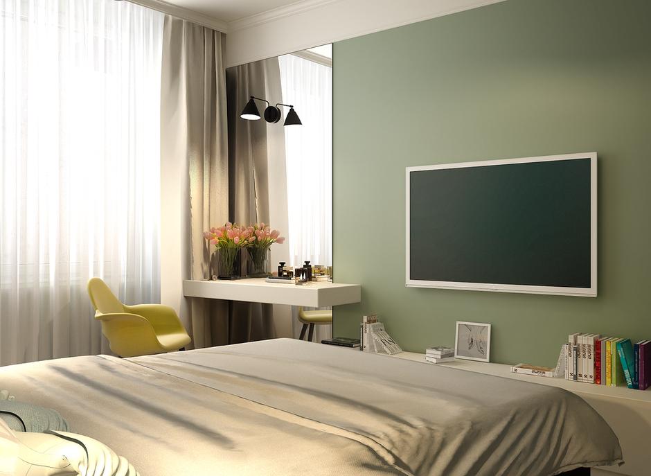 Фотография: Спальня в стиле Современный, Квартира, Проект недели, Анастасия Туганова – фото на InMyRoom.ru