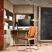 Фотография: Кабинет в стиле Лофт, Декор интерьера, Офисное пространство, Интерьер комнат, Restoration Hardware, Мебель и свет, Цвет в интерьере, Бежевый – фото на InMyRoom.ru