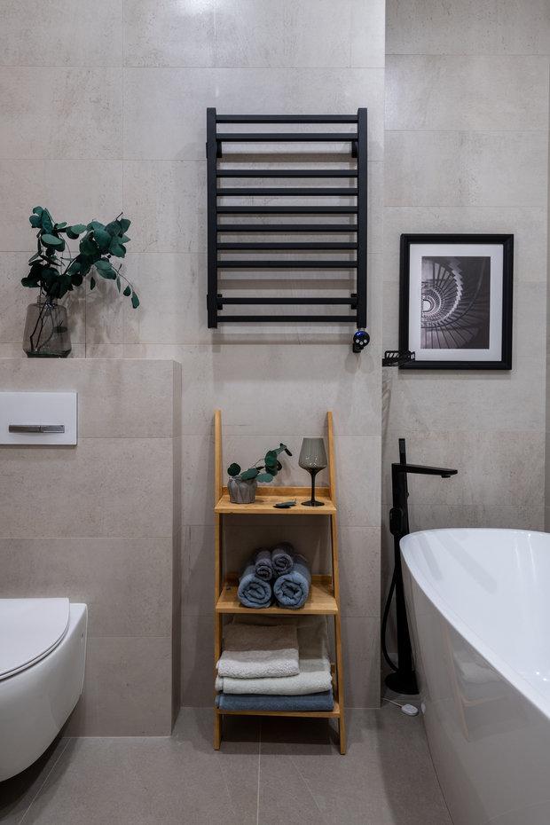 Фотография: Ванная в стиле Современный, Квартира, Проект недели, Москва, 4 и больше, Более 90 метров, Юлия Волкова – фото на INMYROOM