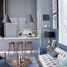 Фотография: Гостиная в стиле Лофт, Эклектика, Декор интерьера, Дизайн интерьера, Цвет в интерьере – фото на InMyRoom.ru