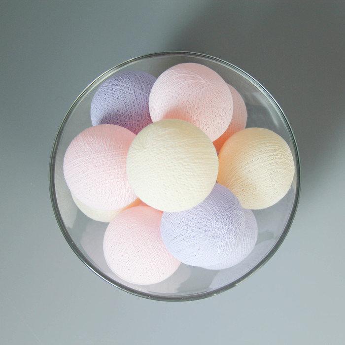 Тайская гирлянда фиолетово-розовая от розетки
