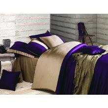 Комплект постельного белья евро ANNETTE пурпурный