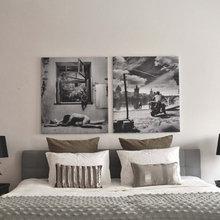 Фотография: Спальня в стиле Эклектика, Декор интерьера, Квартира, Цвет в интерьере, Дома и квартиры, Бежевый – фото на InMyRoom.ru