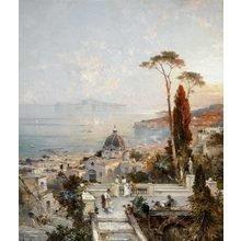 Картина (репродукция, постер): Венеция. Итальянское побережье - Франц Рихард Унтербергер