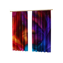 Стильные фотошторы:  Спираль из ткани