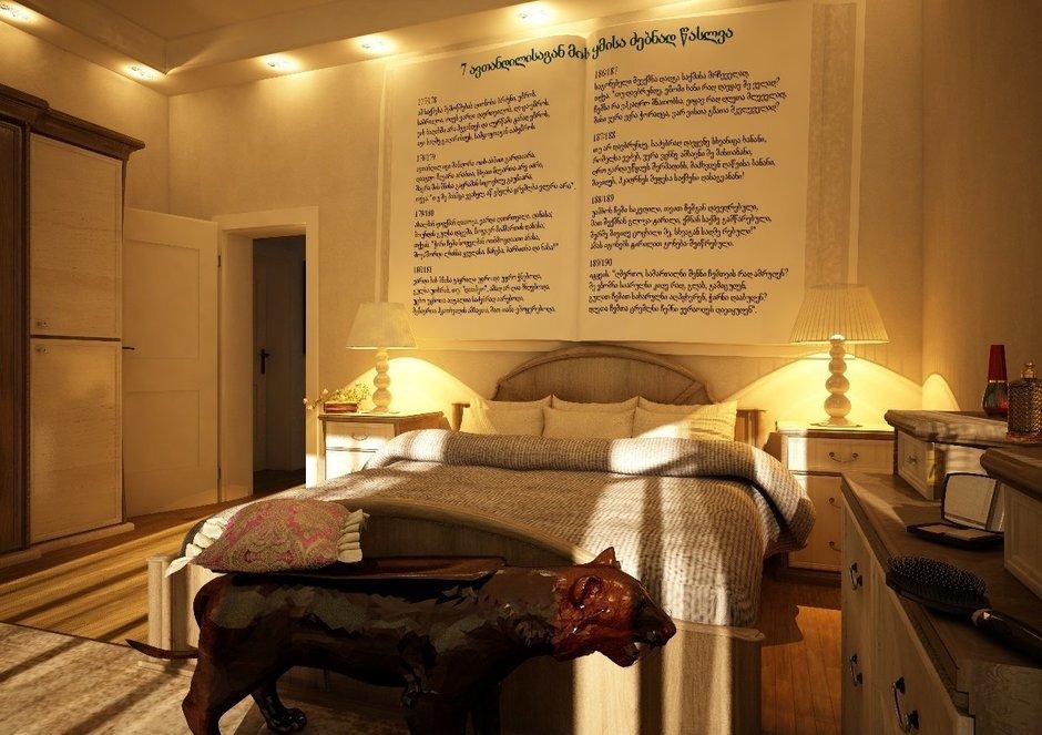 Фотография: Спальня в стиле Эклектика, Дом, Дома и квартиры, Проект недели, Современное искусство – фото на InMyRoom.ru