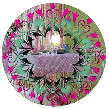"""Зеркало с витражным рисунком """"Розовые тюльпаны"""""""