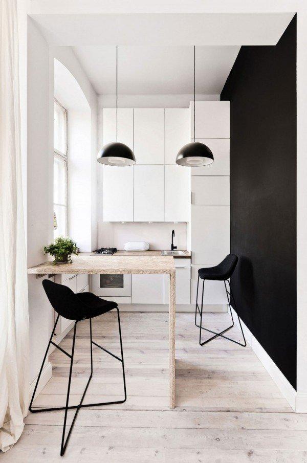 Фотография: Кухня и столовая в стиле Лофт, Малогабаритная квартира, Квартира, Дома и квартиры, Минимализм – фото на InMyRoom.ru